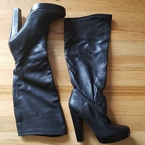 NWT Aldo Knee High Leather Boots - 37